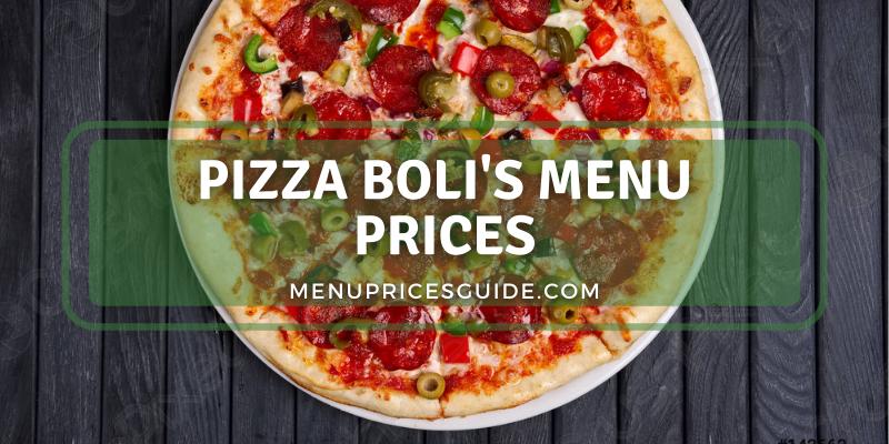 Pizza Boli's menu