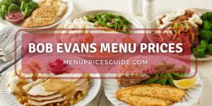 bob evans menu