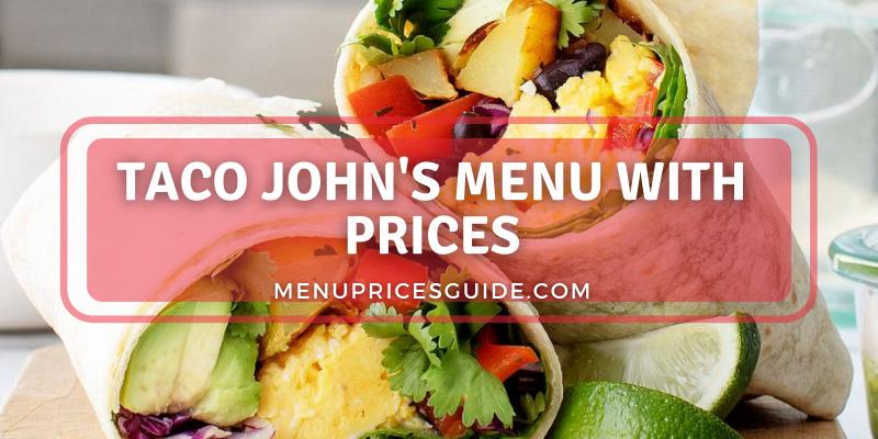 Taco John's Menu prices