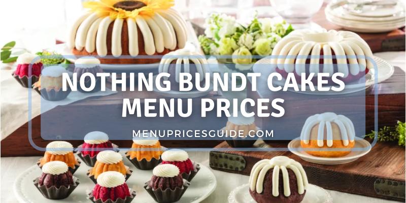 nothing bundt cakes menu