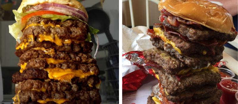 Wendys Secret Menu T-rex Burger